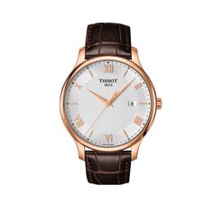 Tissot Men's Swiss Tradition Brown Leather Strap Watch - Shop All Luxury Watches - Jewelry & Watches - Macy's Fine Watches, Cool Watches, Men's Watches, Mens Dress Watches, Tissot Mens Watch, Men Watch, Brown Leather Strap Watch, Junghans, Look Vintage