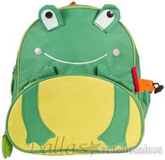 Wow!  This adorable frog backpack will make going to school a real treat!  Its roomy, durable and unforgettable!