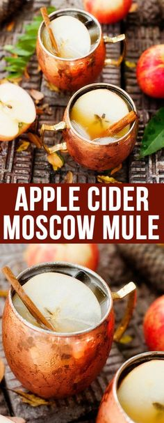 Apple Cider Moscow Mule - Substitute the Vodka with Ozan Founders Cut Apple for a perfect holiday mule.