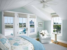 70 Modern Lake House Bedroom Ideas – Page 48 – Best Home Decor Ideas Coastal Bedrooms, Coastal Homes, Coastal Living, Cottage Bedrooms, White Bedrooms, Coastal Decor, Beautiful Bedrooms, Beautiful Homes, Nantucket Home