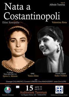 Catisart - «Nata a Costantinopoli», ελληνικής έμπνευσης παράσταση στον Τάραντα