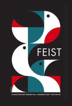 1, 2 , 3, 4 Feist!  Block colours and great use of shapes in this design.  ^James Print