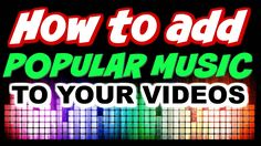 How to Use Popular Music in Youtube https://youtu.be/oiH8gcDBNNs #popularmusic #howtomakepopularvideo