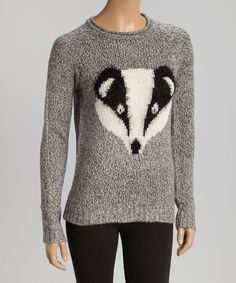 Loving this Heather Gray Badger Sweater on #zulily! #zulilyfinds