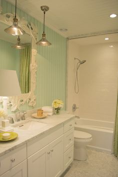 bathroom in the HGTV Dream Home 2015 on Martha's Vineyard - Cuckoo4Design