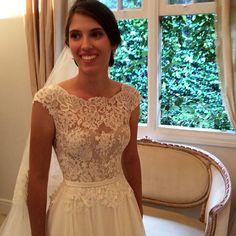 Detalhe da renda da Stephanie #vestidodenoiva #wandaborges