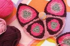 Cute #crochet butterfly bag from vintage pattern by Danielle Thompson.
