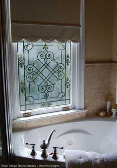 Kolb window by Stenci Star Teri Taylor Roddi | Paint + Pattern