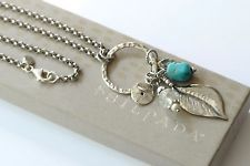 Silpada NEW Sterling Silver Turquoise Crystal Pearl Charm Necklace N1556