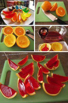 Orange jello for a kids party