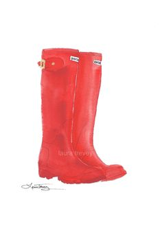 Hunter Boots in Red .. i love my red wellies!