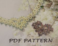 Tatting lace bracelet / doily pdf pattern Scandi by TheKimAndI