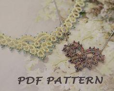 Etsy の Tatting lace bracelet pdf pattern Meridian by TheKimAndI