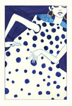 Fashion Illustrations by Bing Liu, via Behance