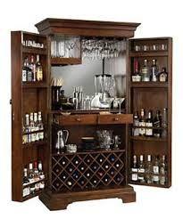 American Ashley Heights Home Bar Wine Cabinet (Ashley Bar), Brown ...