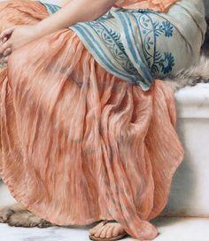 "astra-inclinat: "" John William Godward In the Days of Sappho (Art Detail) 1904 "" John William Godward, Lawrence Alma Tadema, Renoir, Classic Paintings, Pre Raphaelite, Illustrations, Art Plastique, Oeuvre D'art, Art Music"