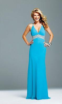 turquoise long dress
