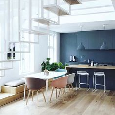 One never tires of this gorgeous space located in Oslo, designed by Hee Welling. So much Nordic goodness! #scandinavian #interiorinspo #husetshop #kitchenlife #danishdesign #interiorstyling