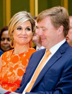 Queen Maxima issued the Apples of Orange 2014 at Noordeinde Palace in The Hague. His Majesty King Willem-Alexander attended the ceremony.