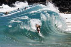 Body boarding at Makapu'u Beach...my BEST boogie boarding day EVER!!!