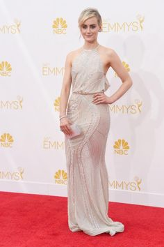 Taylor Schilling in Zuhair Murad at the 2014 Emmys