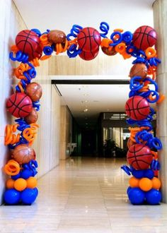 Ideas For Basketball Birthday Party Games Bar Mitzvah Basketball Baby Shower, Basketball Birthday Parties, Birthday Party Games, Basketball Party Favors, Birthday Ideas, Basketball Decorations, Balloon Decorations, Basketball Signs, Basketball Posters