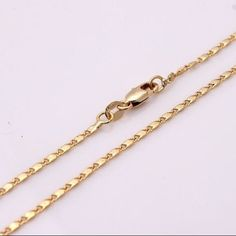 100% New! Women & Men's Gold Plated Necklace 22 inches. It Comes Directly From Factory. Jewelry Necklaces