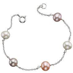 Silver Multicolour Pearl Bracelet #Catherinejones #cambridge #necklace #bracelet #pearls #jewellery #trends