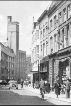 Orthenstraat met fabriek de Gruijter