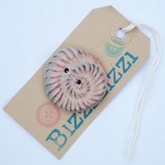 Large OOAK Feature Handmade Polymer Clay Ammonite Button by Bizzi Zizzi via Etsy