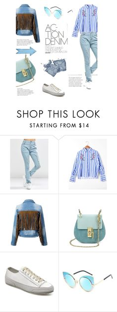 """""""Denim lovers only"""" by stellina-from-the-italian-glam ❤ liked on Polyvore"""