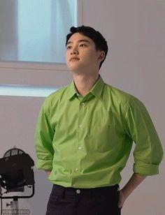 Exo Do, Do Kyung Soo, Kpop Exo, Pop Singers, Kyungsoo, Workout Shirts, Poster, Men Casual, Shirt Dress