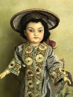antique rare Simon Halbig doll oriental girl all original dress | eBay