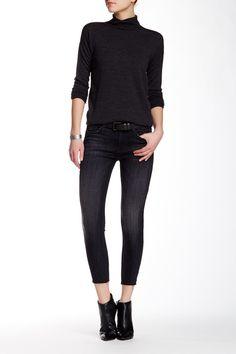 Luna Cropped Super Skinny Raw Hem Jean  Hudson Jeans