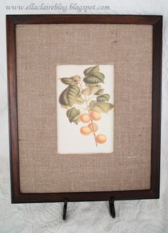 {Ella Claire}: A Knock Off Pottery Barn Frame and Mat - love the burlap mat
