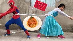Người Nhện và Công Chúa Elsa Nhí#Trò Chơi KÉO CO Ăn Mì Trò Đùa Joker và ...
