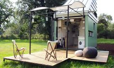 If simple living means living happier, you'll find bliss in the 186-square-foot POD-Idladla, a compact prefab home for two that can move almost anywhere you wish. South Africa-based architect Clara da Cruz Almeida collaborated with local design firm Dokter Misses to create the modular nano-home, which is powered by solar energy and can be customized off-site to the client's specifications. The minimal and charming mobile pod ships flat-pack and assembles onsite in a snap.