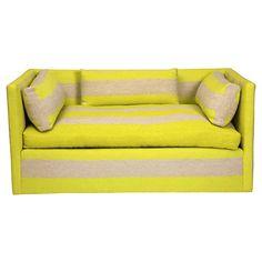 Striped Love Seat Sofa