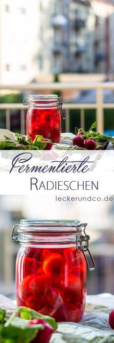 Fermentierte Radieschen | ganz einfach aus 3 Zutaten Becoming Vegetarian, Vegetarian Lifestyle, Beginner Vegetarian, Superfood, Summer Bbq, World Recipes, Diy Food, 3 Ingredients, Food Photography