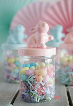Bunny Favor Jar from an Easter Tea Party via Kara's Party Ideas | The Place for All Things Party! KarasPartyIdeas.com (19)
