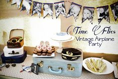 Time Flies: Airplane 1st Birthday Party by Dirt Stains and Paint
