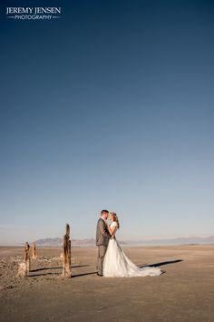 Jeremy Jensen Photography, Bridals, Utah Bridals, Salt Lake, Couple, Utah Bride, Couples Posing, Utah Wedding, Saltair, Salt Flats
