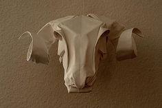 rams head paper taxidermy