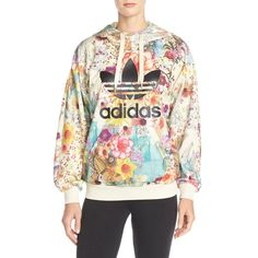 adidas Originals 'Farm Confete' French Terry Hoodie ($75) ❤ liked on Polyvore featuring tops, hoodies, adidas originals hoodies and adidas originals