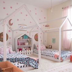 Shared Sister Room is part of Shared girls room - Shared Bedrooms, Teen Girl Bedrooms, Shared Girls Rooms, Modern Girls Rooms, Sibling Room, Toddler Floor Bed, Sister Bedroom, Bedroom Kids, Lego Bedroom