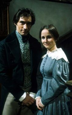 Timothy Dalton (Mr. Edward Fairfax Rochester) and Zelah Clark (Jane Eyre) - Jane Eyre directed by Julian Amyes (TV Mini-Series, 1983) #charlottebronte
