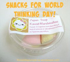 Easy and fun snack for World Thinking Day- Japan. Printable tags too!