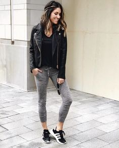 - the sister studio chill outfits, trendy outfits, spring outfits, cute out Legging Outfits, Black Leggings Outfit, Fall Leggings, Athleisure Outfits, Sweaters And Leggings, Tops For Leggings, Leggings Fashion, Cheap Leggings, Tribal Leggings