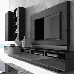 khayalam' – Welcome Tv Unit Modern Tv Room, Modern Tv Wall Units, Modern Living, Modern Tv Unit Designs, Tv Console Modern, Tv Cabinet Design Modern, Tv Wall Design, Tv Wall Decor, Tv Unit Decor