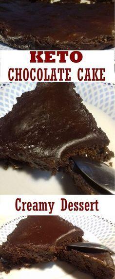 Creamy keto chocolate cake